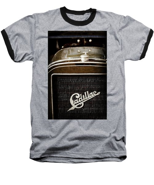 Baseball T-Shirt featuring the photograph 1907 Cadillac Model M Touring Grille Emblem -1106ac by Jill Reger