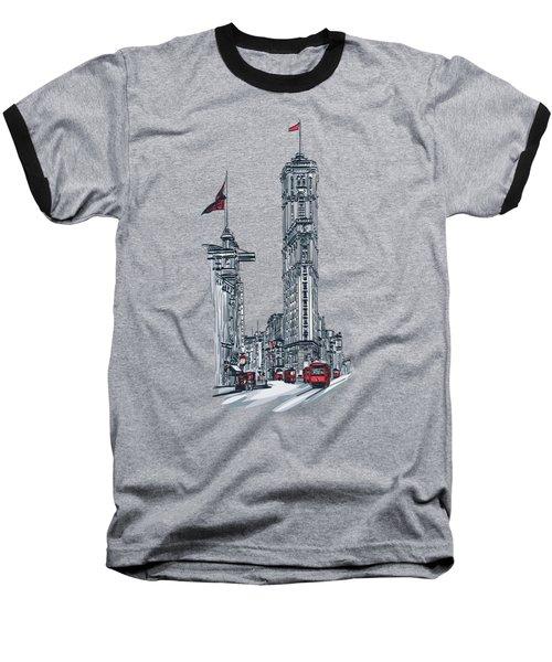 1908 Times Square,ny Baseball T-Shirt by Andrzej Szczerski