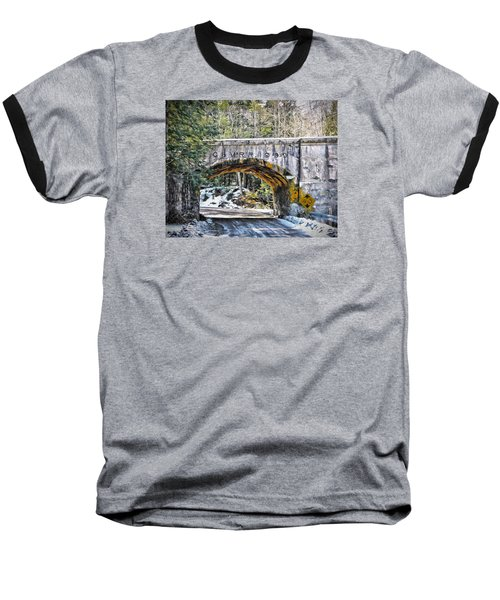1909 Country Backroad Train Overpass Baseball T-Shirt