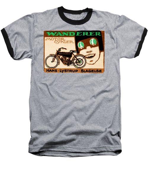 1910 Wanderer Motorcycle Baseball T-Shirt by Historic Image
