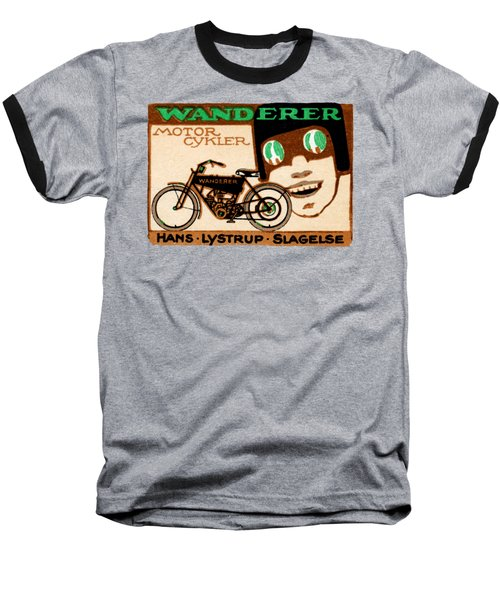 1910 Wanderer Motorcycle Baseball T-Shirt