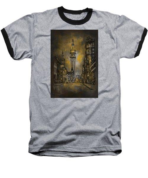 1910y Madison Avenue Ny. Baseball T-Shirt by Andrzej Szczerski