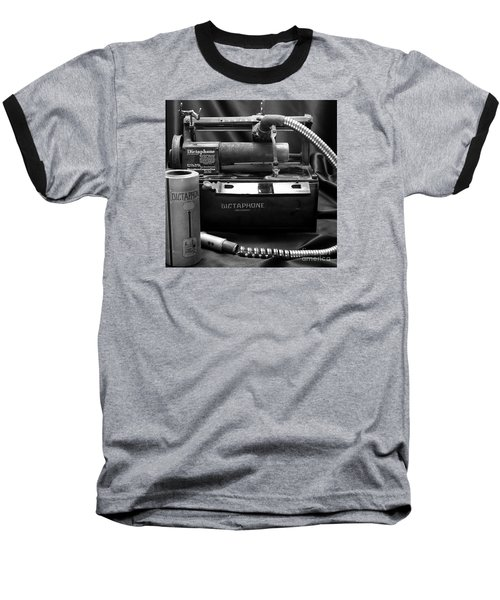 Baseball T-Shirt featuring the photograph 1912 Dictaphone  by Ricky L Jones