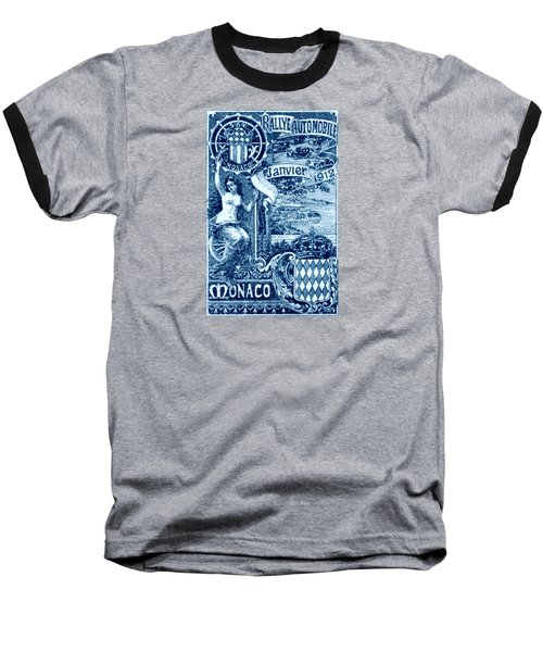 Baseball T-Shirt featuring the painting 1912 Monaco Automobile Rally by Historic Image