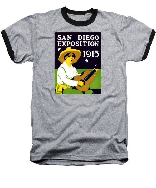1915 San Diego Expo Poster 2 Baseball T-Shirt by Historic Image