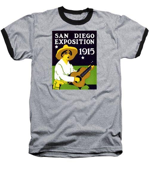 1915 San Diego Expo Poster 2 Baseball T-Shirt