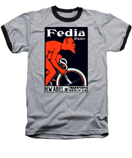 1920 Devil Riding A Bicycle Baseball T-Shirt