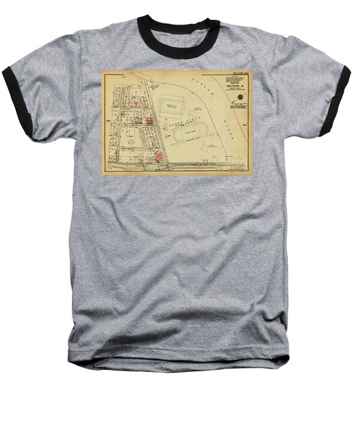 Baseball T-Shirt featuring the photograph 1927 Baker Field Map  by Cole Thompson