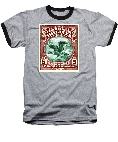 1928 Bolivia Andean Condor Postage Stamp Baseball T-Shirt