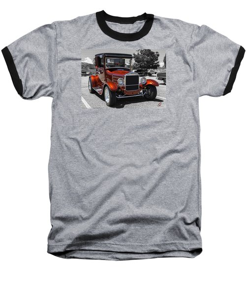 1928 Ford Coupe Hot Rod Baseball T-Shirt by Chris Thomas