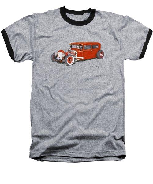 1928 Ford Tudor Jalopy Ratrod Baseball T-Shirt by Jack Pumphrey