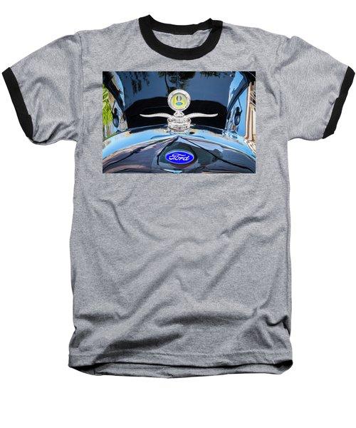 1929 Ford Model A Hood Ornament  Baseball T-Shirt by Rich Franco