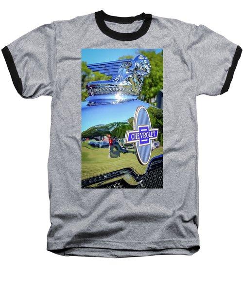 1930 Chevrolet Ad Hood Ornament Baseball T-Shirt
