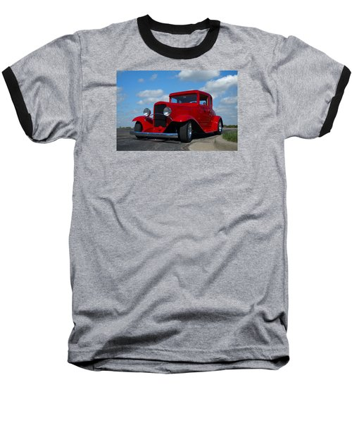 1930 Chevrolet Coupe Hot Rod Baseball T-Shirt