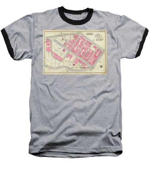 1930 Inwood Map  Baseball T-Shirt by Cole Thompson