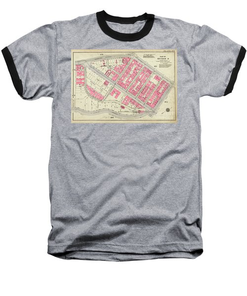 1930 Inwood Map  Baseball T-Shirt