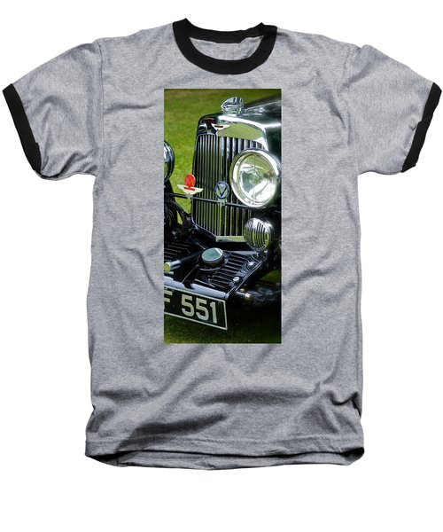 1930s Aston Martin Front Grille Detail Baseball T-Shirt