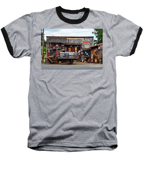 1930s Gas Station And Garage Baseball T-Shirt by Ansel Price