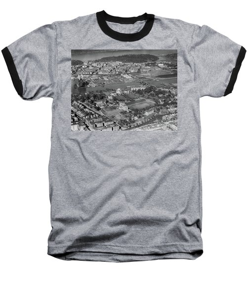 1930's Northern Manhattan Aerial  Baseball T-Shirt by Cole Thompson