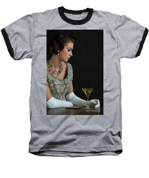 1930s Woman With A Cocktail Glass Baseball T-Shirt