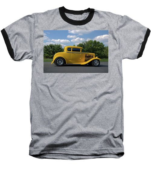 1931 Ford Coupe Hot Rod Baseball T-Shirt