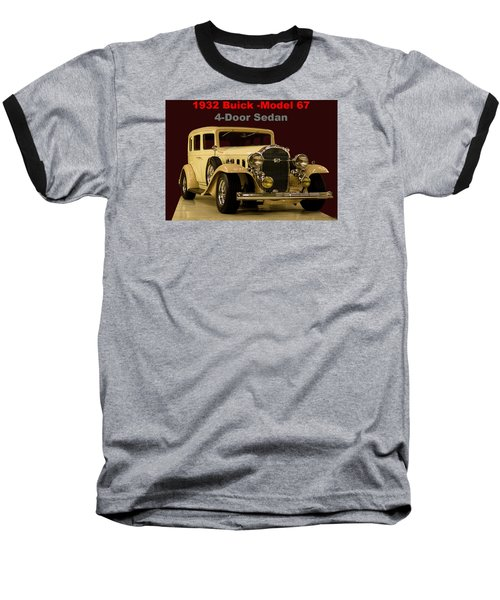 1932 Buick 4door Sedan Baseball T-Shirt by B Wayne Mullins
