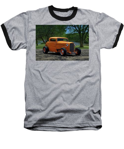 1932 Ford Coupe Hot Rod Baseball T-Shirt