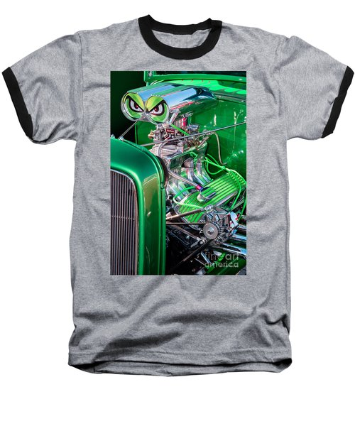 Baseball T-Shirt featuring the photograph 1932 Green Ford Hot Rod Engine by Aloha Art