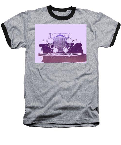 1932 Packard Pop Art Violet Gradient Baseball T-Shirt