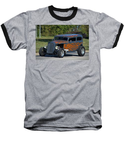 1933 Ford Sedan Hot Rod Baseball T-Shirt