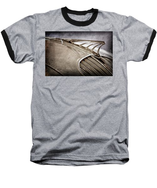 Baseball T-Shirt featuring the photograph 1934 Desoto Airflow Coupe Hood Ornament -2404ac by Jill Reger