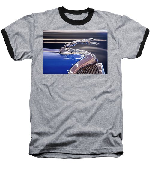Baseball T-Shirt featuring the digital art 1934  Ford Greyhound Hood Ornament by Chris Flees