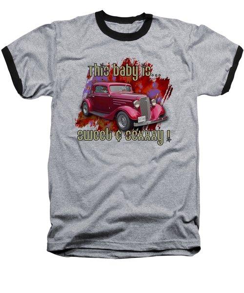 1935 Chev 3 Widow Coupe Baseball T-Shirt