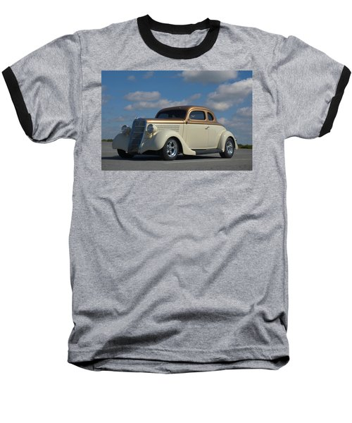 1935 Ford Coupe Hot Rod Baseball T-Shirt