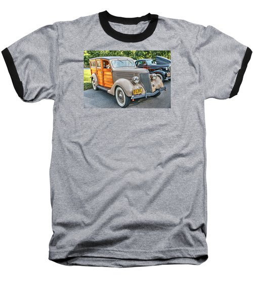 1936 Ford V8 Woody Station Wagon Baseball T-Shirt