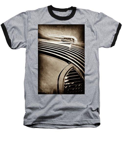 Baseball T-Shirt featuring the photograph 1936 Pontiac Hood Ornament -1140s by Jill Reger