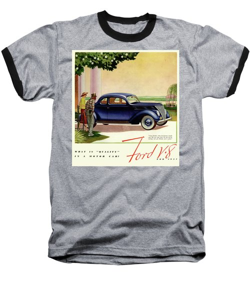 1937 Ford Car Ad Baseball T-Shirt