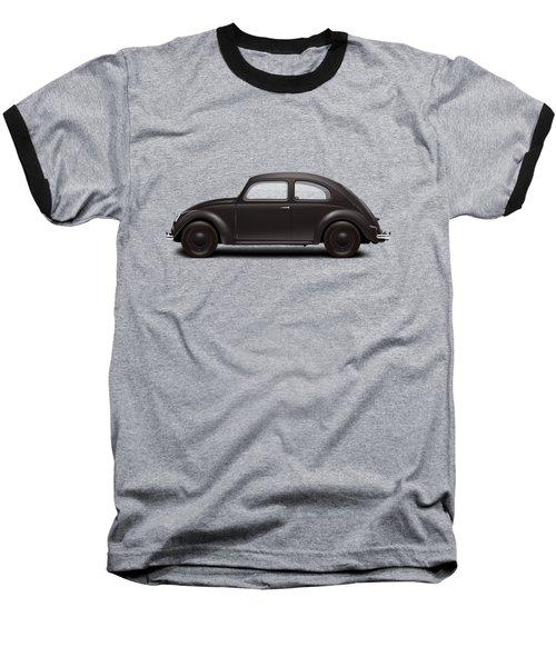1939 Kdf Wagen - Black Baseball T-Shirt