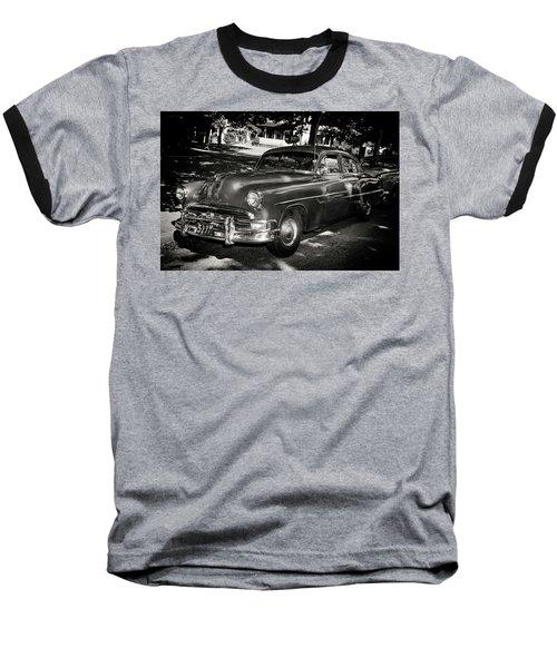 1940s Police Car Baseball T-Shirt by Paul Seymour