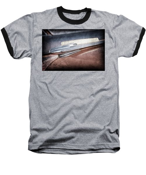 Baseball T-Shirt featuring the photograph 1948 Chevrolet Hood Ornament -0587ac by Jill Reger