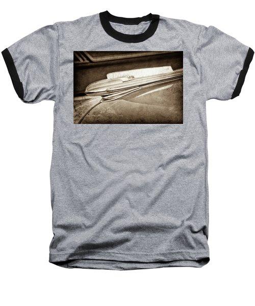 Baseball T-Shirt featuring the photograph 1948 Chevrolet Hood Ornament -0587s by Jill Reger