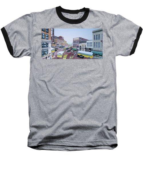 1948 Rush Hour Portsmouth Ohio Baseball T-Shirt by Frank Hunter