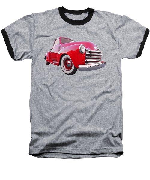 1950 Chevy Pick Up At Sunset Baseball T-Shirt by Gill Billington