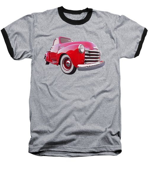 1950 Chevy Pick Up At Sunset Baseball T-Shirt