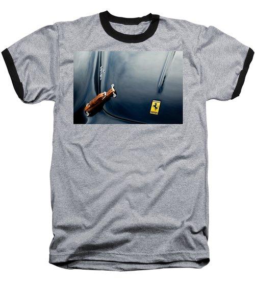 1950 Ferrari Hood Emblem Baseball T-Shirt by Jill Reger