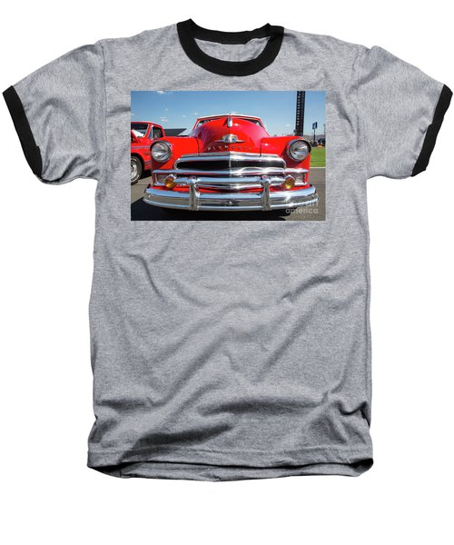 1950 Plymouth Automobile Baseball T-Shirt by Kevin McCarthy