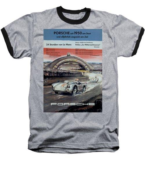 1950 Porsche Le Mans Poster Baseball T-Shirt