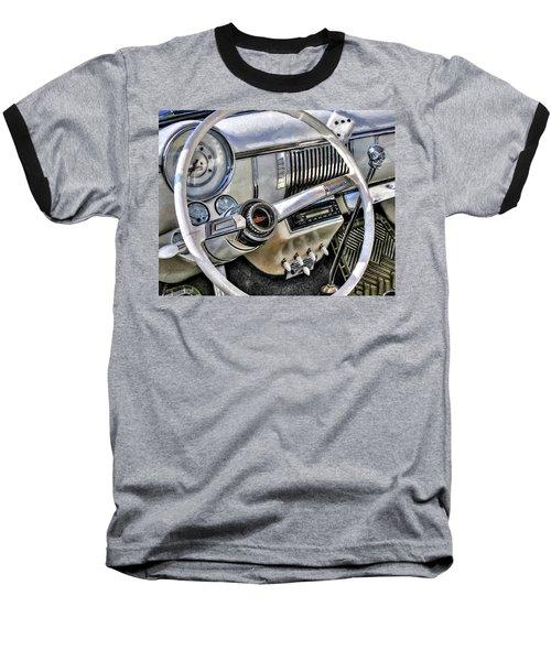 1950 White Chevy Coupe Baseball T-Shirt