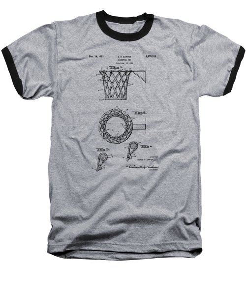1951 Basketball Net Patent Artwork - Vintage Baseball T-Shirt by Nikki Marie Smith