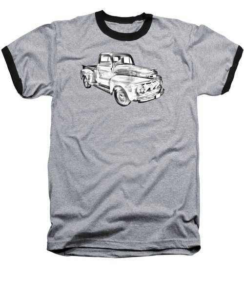 1951 Ford F-1 Pickup Truck Illustration  Baseball T-Shirt by Keith Webber Jr